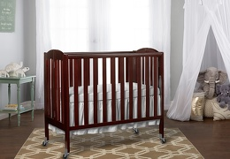 Espresso 3 in 1 Folding Portable Crib RmScene