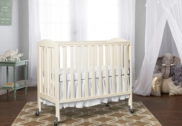 3 in 1 Folding Portable Crib, Steel Wheels