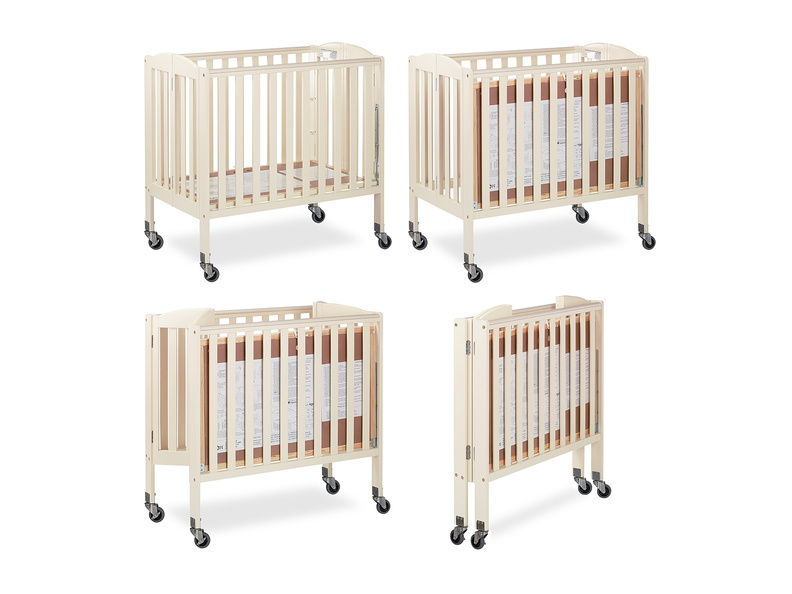 French White 3 in 1 Folding Portable Crib Collage