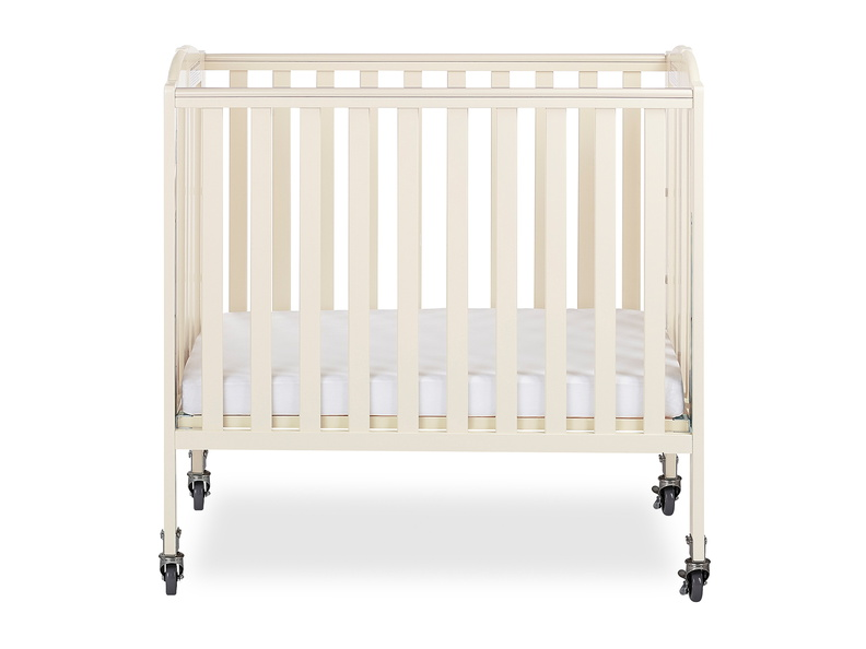 French White 3 in 1 Folding Portable Crib 01 Silo