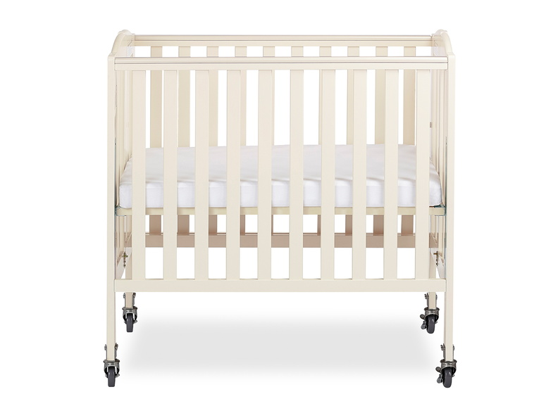 French White 3 in 1 Folding Portable Crib 02 Silo