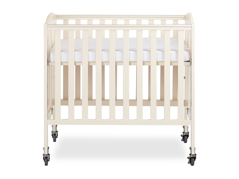 French White 3 in 1 Folding Portable Crib 03 Silo