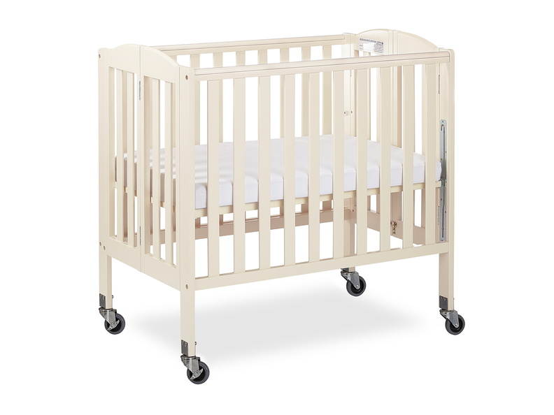French White 3 in 1 Folding Portable Crib 05 Silo