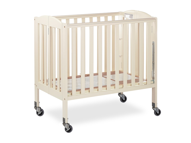 French White 3 in 1 Folding Portable Crib 07 Silo