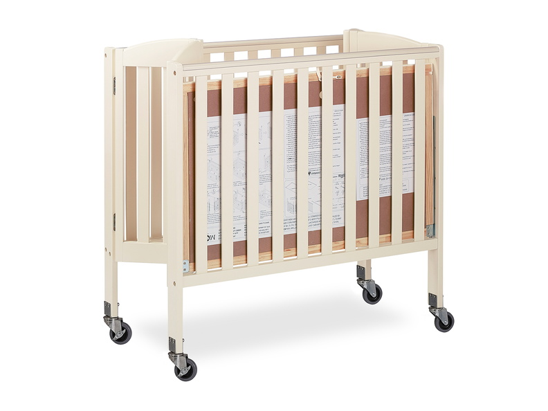 French White 3 in 1 Folding Portable Crib 09 Silo