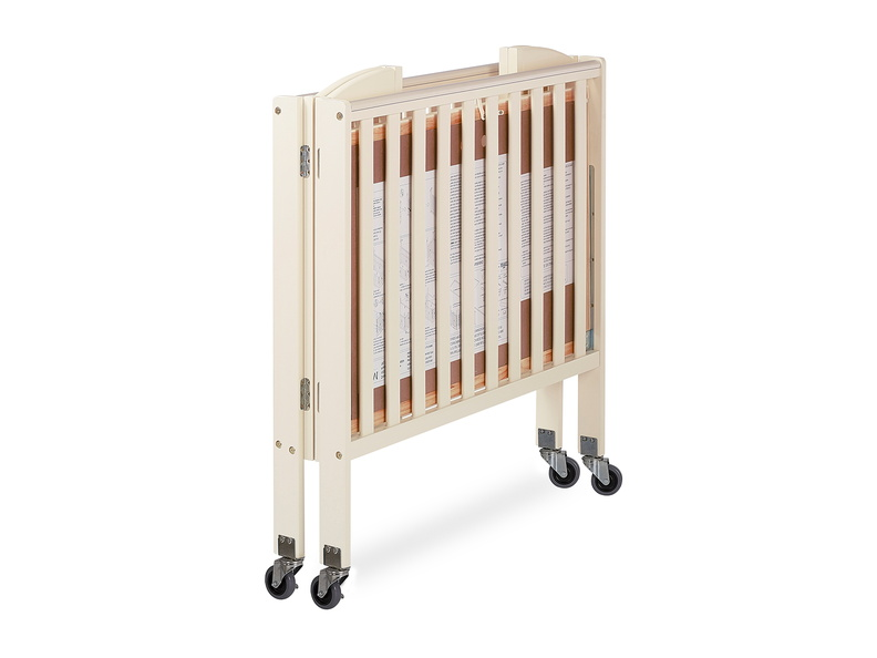 French White 3 in 1 Folding Portable Crib 10 Silo