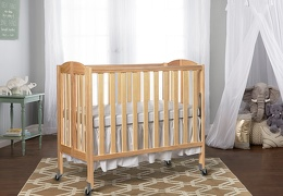 Natural 3 in 1 Folding Portable Crib RmScene