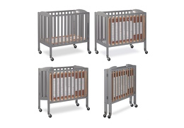 Steel Grey 3 in 1 Folding Portable Crib Collage