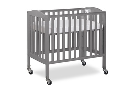 Steel Grey 3 in 1 Folding Portable Crib 06 Silo