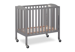 Steel Grey 3 in 1 Folding Portable Crib 07 Silo