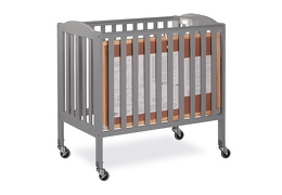 Steel Grey 3 in 1 Folding Portable Crib 08 Silo