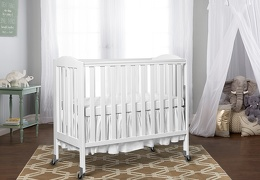 White 3 in 1 Folding Portable Crib RmScene