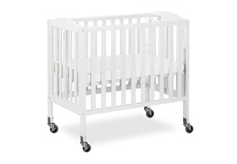 White 3 in 1 Folding Portable Crib 05 Silo