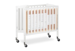 White 3 in 1 Folding Portable Crib 08 Silo