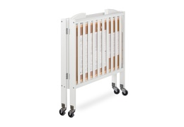White 3 in 1 Folding Portable Crib 10 Silo