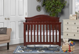 Espresso Venice Folding Portable Crib 01 RmScene
