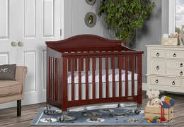Espresso Venice Folding Portable Crib 02 RmScene