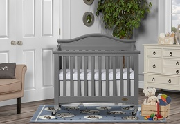 Steel Grey Venice Folding Portable Crib 01 RmScene