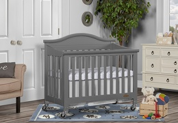 Steel Grey Venice Folding Portable Crib 02 RmScene