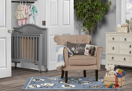 Steel Grey Venice Folding Portable Crib 03 RmScene