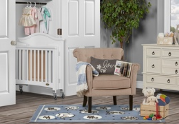 White Venice Folding Portable Crib 03 RmScene