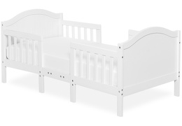 White Portland 3 in 1 Convertible Toddler Bed Silo 01