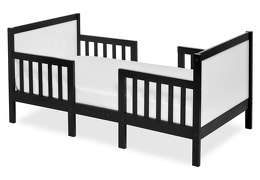 Black/White Hudson 3 in 1 Convertible Toddler Bed Silo 01