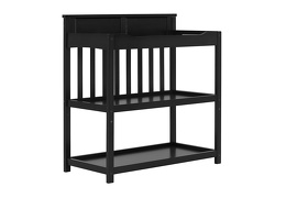 Black Zoey Changing Table Side Silo