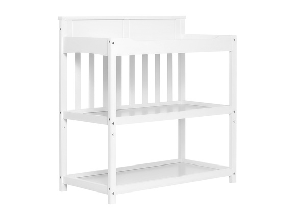 White Zoey Changing Table Side Silo