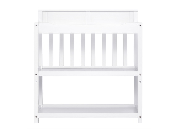 White Zoey Changing Table Front Silo