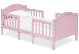 Pink Portland 3 in 1 Convertible Toddler Bed Silo 04