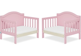 Pink Portland 3 in 1 Convertible Toddler Bed Collage