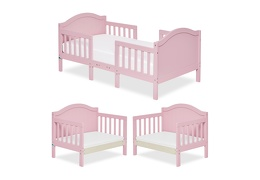 Pink Portland 3 in 1 Convertible Toddler Bed Collage 01