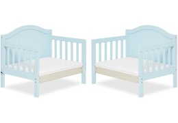 Sky Blue Portland 3 in 1 Convertible Toddler Bed Collage