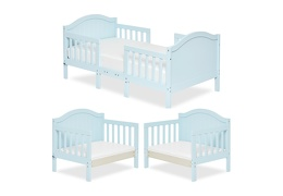 Sky Blue Portland 3 in 1 Convertible Toddler Bed Collage 01