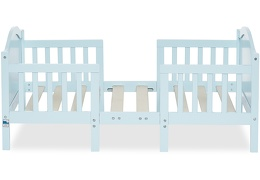 Sky Blue Portland 3 in 1 Convertible Toddler Bed Silo 02