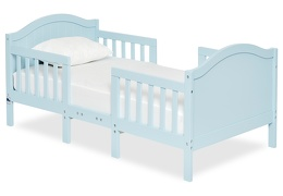 Sky Blue Portland 3 in 1 Convertible Toddler Bed Silo 04