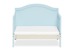 Sky Blue Portland 3 in 1 Convertible Toddler Bed Silo 07