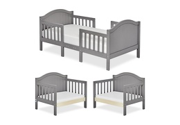 Steel Grey Portland 3 in 1 Convertible Toddler Bed Collage 01
