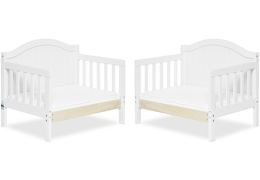 White Portland 3 in 1 Convertible Toddler Bed Collage