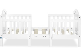 White Portland 3 in 1 Convertible Toddler Bed Silo 02