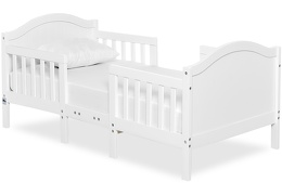 White Portland 3 in 1 Convertible Toddler Bed Silo 04