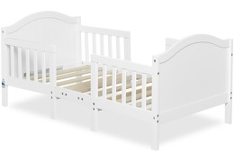 White Portland 3 in 1 Convertible Toddler Bed Silo 05