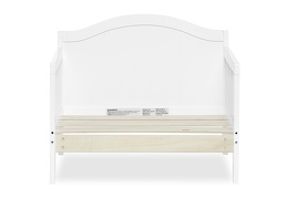 White Portland 3 in 1 Convertible Toddler Bed Silo 06