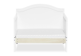 White Portland 3 in 1 Convertible Toddler Bed Silo 07