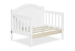 White Portland 3 in 1 Convertible Toddler Bed Silo 08