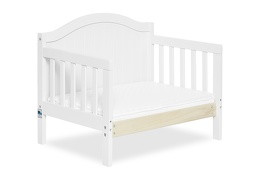 White Portland 3 in 1 Convertible Toddler Bed Silo 09
