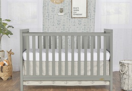 Cool Grey - Springfield 3 in 1 Convertible Crib