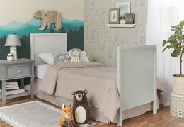 Cool Grey - Springfield Full Size Bed with footboard