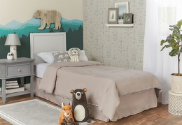 Cool Grey - Springfield Full Size Bed without footboard